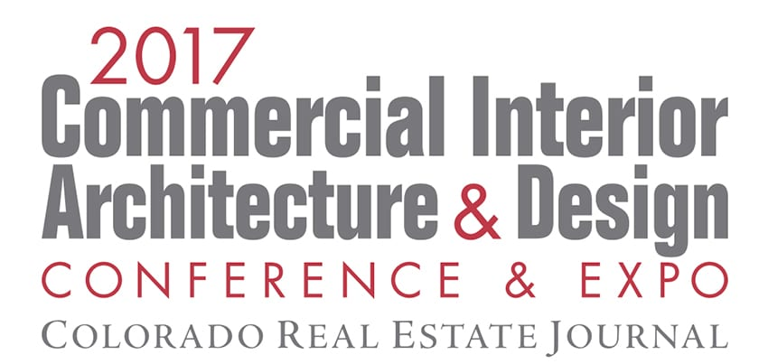Logo for the CREJ Colorado Real Estate Journal 2017 Commercial Interior Architecture & Design Conference & Expo